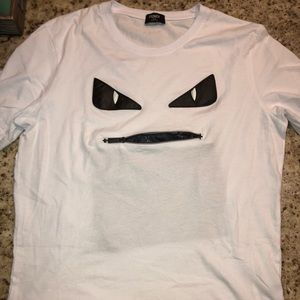 Fendi face t shirt